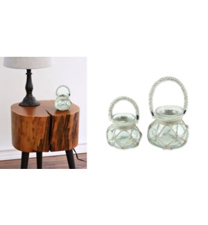 GLASS TEALIGHT HOLDER HANGING Round - LG-6B