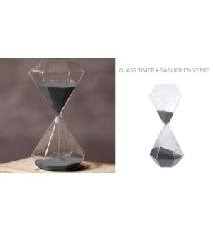 Glass Timer Decor Shaped-8B