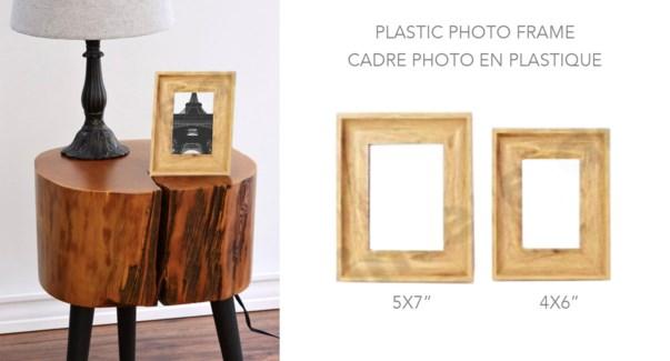 Plastic Photo Frame Light Wood  4x6 - 8B