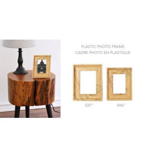 Plastic Photo Frame Light Wood  4x6 - 8B