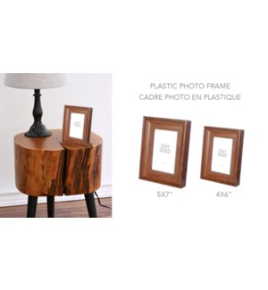 Plastic Photo Frame Dark Wood-4x6 - 8B
