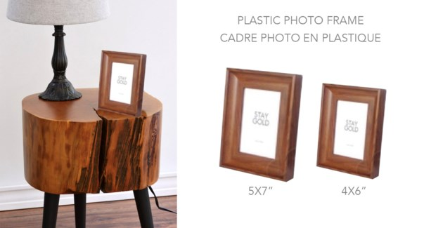 Plastic Photo Frame Dark Wood 5x7 - 8B