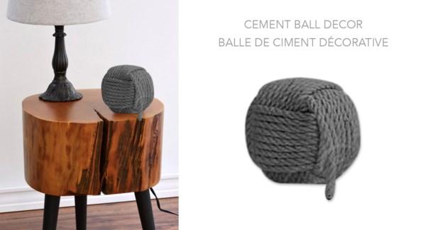 Cement Ball Decor 8B