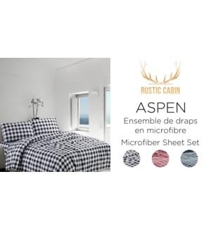 ASPEN ENSEMBLE DE DRAPS EN MICROFIBRE DOUBLE 4/B