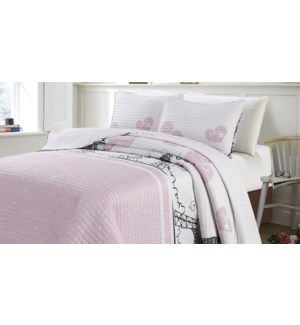 MF-CHAMPS ELYSEES pink-F 80x86-3pc QUILT SET