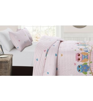 MF-HOWLY pink-T 68x86-2pc QUILT SET