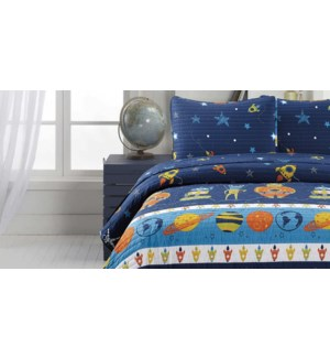 MF-ALIENS blue-T 68x86-2pc QUILT SET