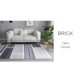 Crystal- Brick Grey/Yelllow/Black -4 x 6-RUG