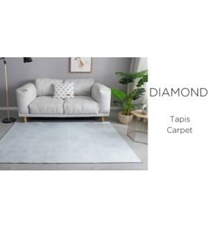 Crystal- Lt Blue Geo Diamond -4 x 6-RUG