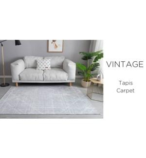 Crystal- Grey Vintage Line  -4 x 6-RUG