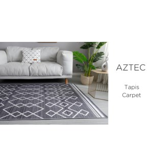 Crystal- Black Aztec -3 x 5-RUG