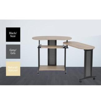 SHEILA TABLE D'ORDINATEUR GRIS 157*45*75CM 1B