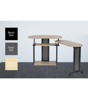 SHEILA TABLE D'ORDINATEUR GRIS 157*45*75CM 1B