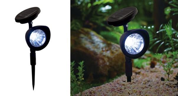 Spot solaire noir 14x8.5x29.5-12B