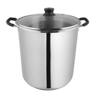 Stock pot capsulated bottom glass lid 8qt-24cm  4/ctn