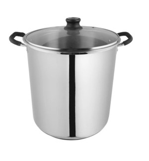 Stock pot capsulated bottom glass lid 16qt-28cm  4/ctn