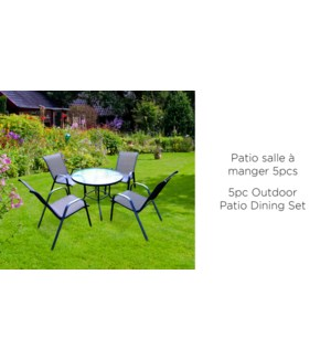 5PC OUTDOOR PATIO DINING SET INCLUDES TABLE AND 4 CHAIRS