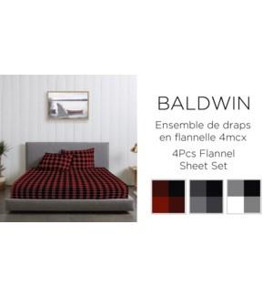 BALDWIN EN FLANNELLE-ASSORTED-78 x 80-Ens.Draps