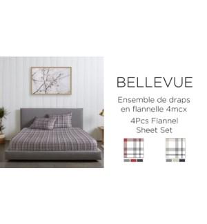 BELLEVUE  EN FLANNELLE-ASSORTED-60x80-Ens.Draps