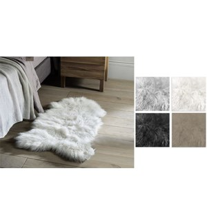 TAPIS EN PEAU DE MOUTON blanc SYNTHETIQUE 24x35 24B