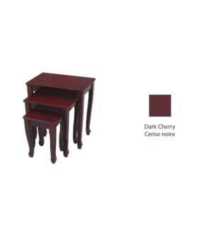 3pcs Side Table Set DK Cherry 1b
