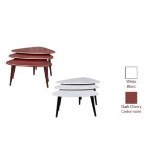 3pcs Side Table Set white 1b