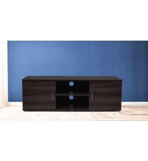 Meuble TV chˆne fonc' 120x40x39cm