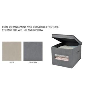 BoŒte de rangement avec couvercle et fenˆtre 30x39.5x25- 24B