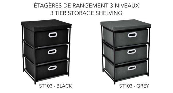 tagŠre de rangement … 3 niveaux 46x39,5x65 - 8B