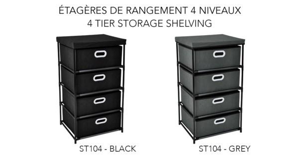 tagŠre de rangement … 4 niveaux 46x39,5x84 - 6B