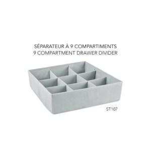 Tiroir diviseur en 9, 35,5x35,5x10 - 24B
