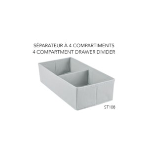 Tiroir Diviseur en 4 - 18x35,5x10 - 36B