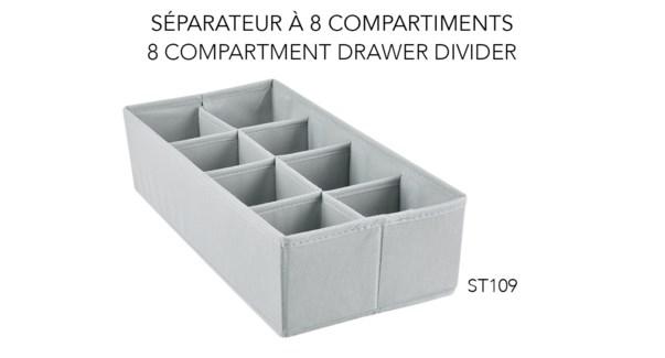 Tiroir Diviseur en 8, 18x35x10 - 24B