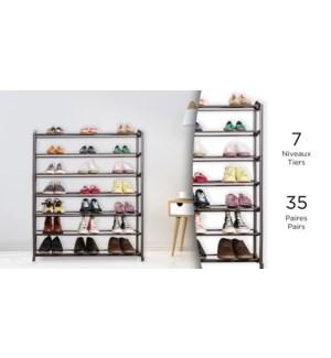 7 Tier Shoe Rack - 35 Pairs - 92x28x111 - 8B