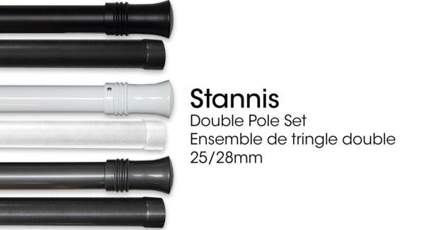 STANNIS ENSEMBLE DE TRINGLE DOUBLE NOIR 25/28 48X86