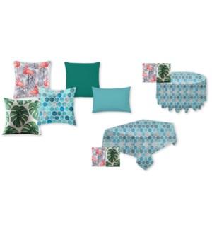 Palm leaf Square Cushion green 17X17 8/B