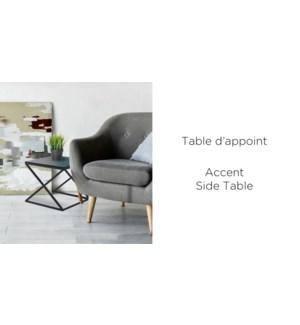 ESPRESSO ACCENT SIDE TABLE  60x60x51.5cm