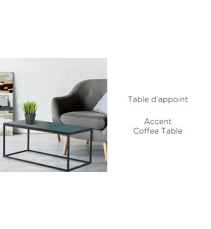 ESPRESSO ACCENT SIDE TABLE 114X54X48CM
