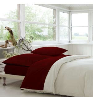 T-800 Cvc Sheet Set Red  K  4b