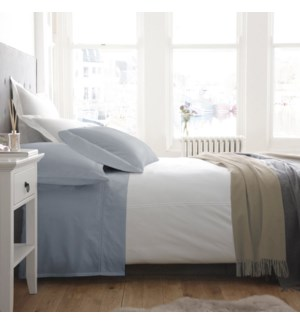 T1000 CVC ENSEMBLE DE DRAPS BLEUE PALE DOUBLE 4B