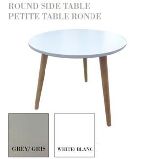 Round Side Table 3legs Asst 6b