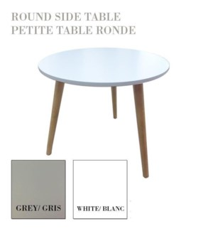 Round Side Table 3legs Asst 6b