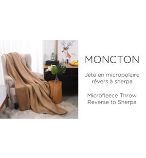 """Moncton microfleece throw rev sherpa 50x60"""" 12/b"""