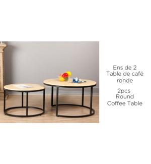 2PC SET DE RONDE TABLE DE CAFE