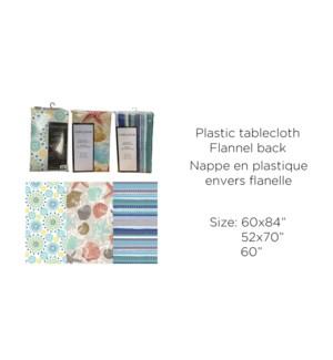 PE20-B NAPPE PLASTIQUE 60X84 - 3 MOTIFS ASSORTIS 12/b