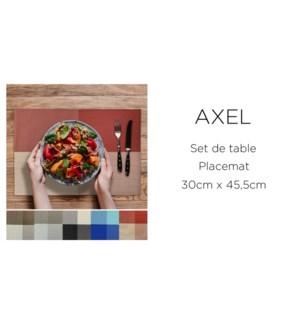 Set de table 30X40 cm AXEL white /brown 24/b