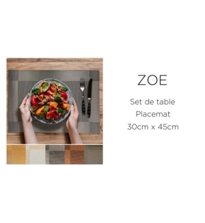 Set de table 30X40 cm black 24/b