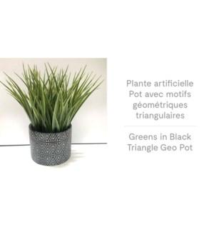 Pot G'o Triangle Vert en Noir 12.5x24-8B
