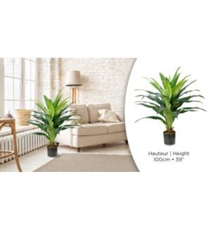 Plante artificielle verte Dracaena H100cm - 2B