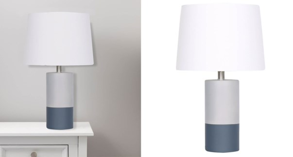 LAMPE DE TABLE EN BETON GRIS 30x30x50CM 2B